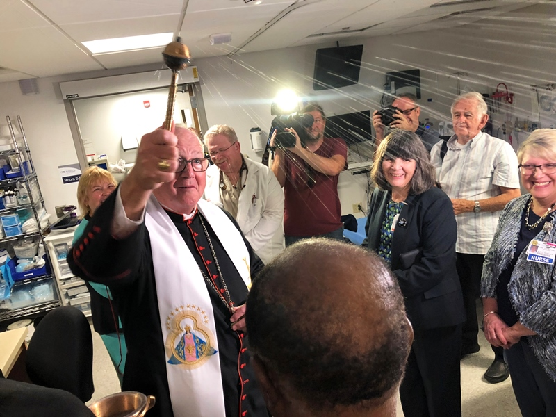 Cardinal Dolan Offers Blessing for the New Temporary